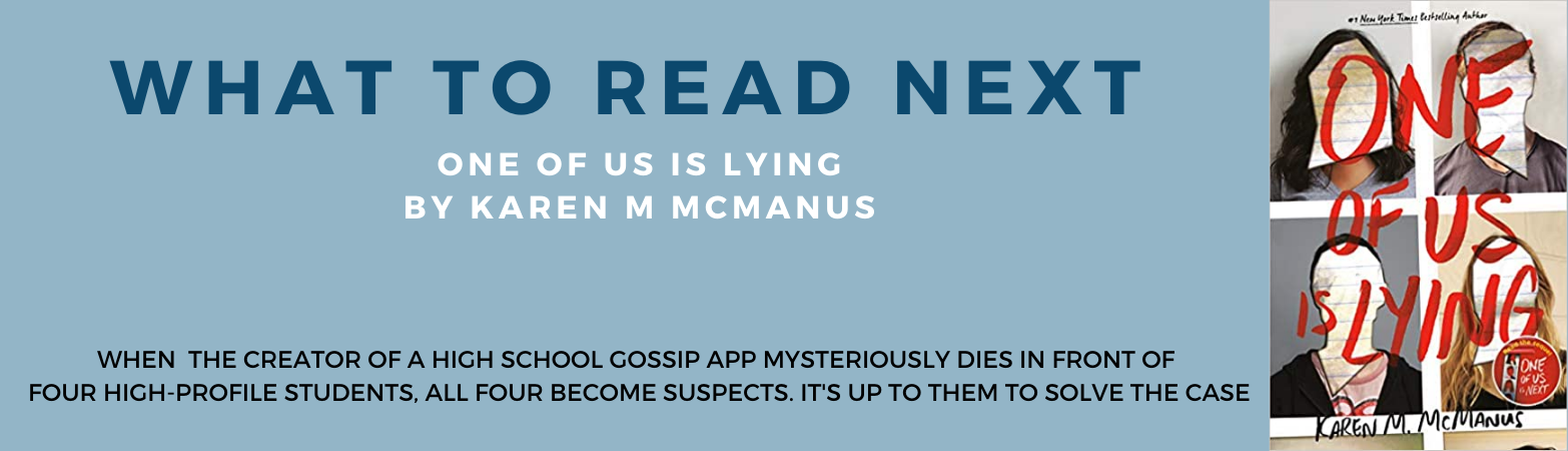 Book recommendation and link to catalog record for one of us is lying by karen mcmanus