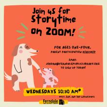 flyer for toddler storytime